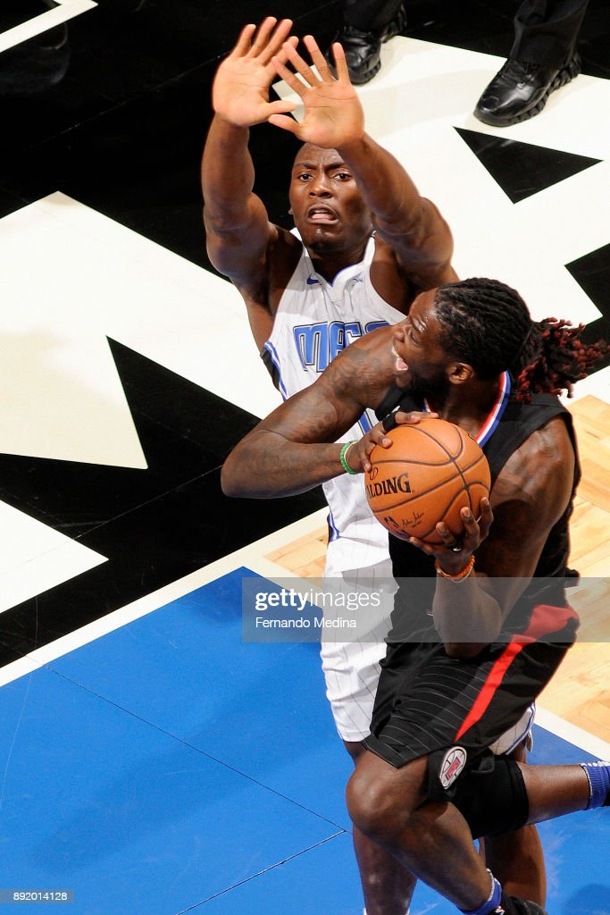 Montrezl Harrell #5 of the LA Clippers handles the ball against the Orlando Magic on December 13, 2017 at Amway Center in Orlando, Florida.
