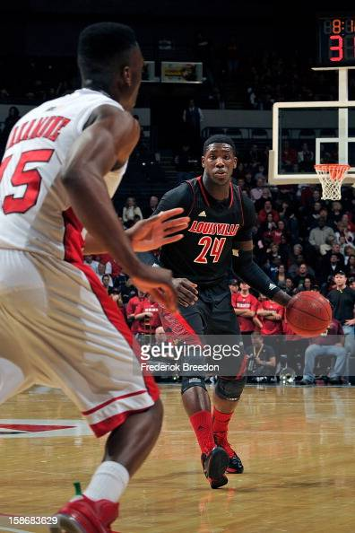 Montrezl Harrell of the Louisville Cardinals plays against of the Western Kentucky Hilltoppers at Bridgestone Arena on December 22 2012 in Nashville...
