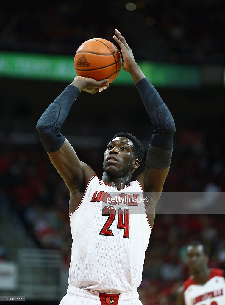 Montrezl Harrell #24 of the Louisville Cardinals shoots the ball during the game against the Southern Mississippi Golden Eagles at KFC YUM! Center on November 29, 2013 in Louisville, Kentucky.
