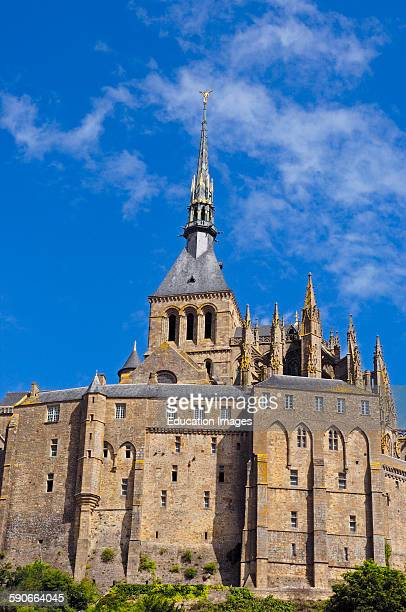 Michel abbey stock photos and pictures getty images for Au jardin st michel pontorson france
