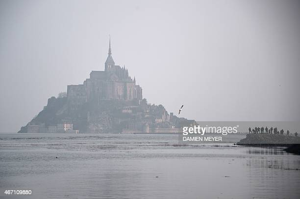 MontSaintMichel is pictured during high tide on March 21 2015 A 'supertide'phenomenon that occurs only every 18 year is expected to affect coastlines...