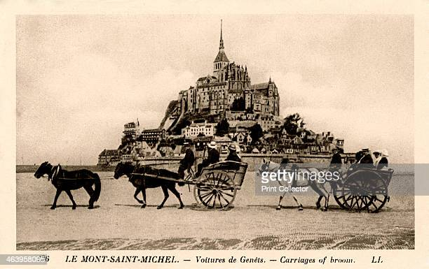 MontSaintMichel Normandy France early 20th century The building of the Benedectine Abbey on the island of Mont St Michel was begun in the 11th...