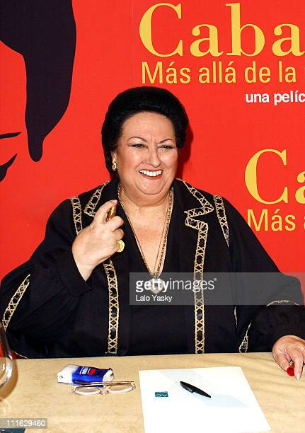 Montserrat Caballe during Spanish Soprano Montserrat Caballe Promotes 'Caballe Mas Alla de la Musica' Madrid at Santo Mauro Hotel in Madrid Spain