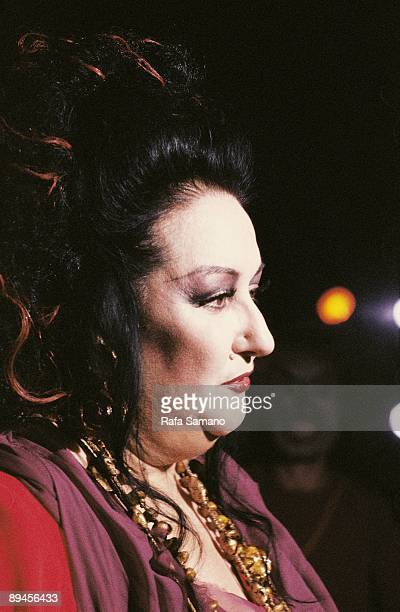 Montserrat Caballe opera singer The soprano singer after a performance of Puccini´s opera 'Medea'