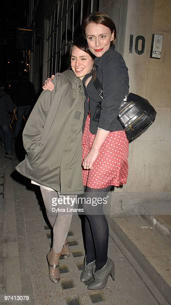 Montserrat Lombard and Keeley Hawes attend Private Lives Press Night held at The Vaudeville Theatre on March 3 2010 in London England