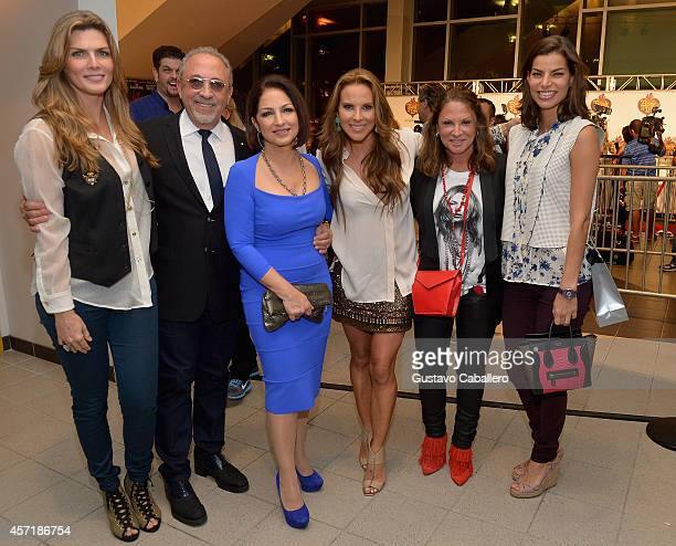 Montserrat OliverEmilio EstefanGloria EstefanKate del CastilloAna Maria Polo and Barbara Copper attends 'THE BOOK OF LIFE' Red Carpet at Regal South...