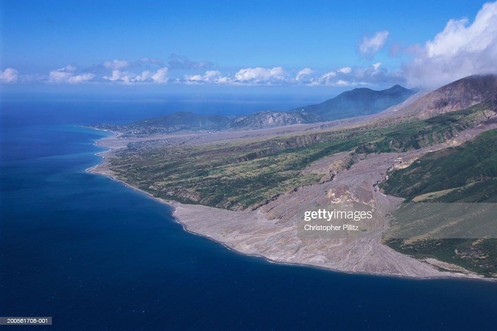 Montserrat, Soufriere Hills volcano : Stock Photo