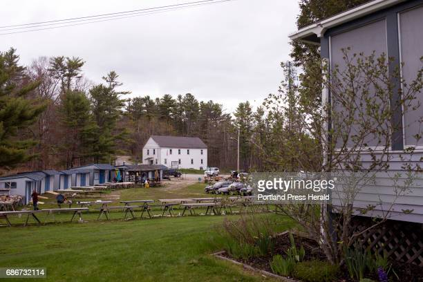Montsweag Flea Market seen from the front yard of the Hunnewell family home during the opening morning The market was started by Gena Kilkenny's...