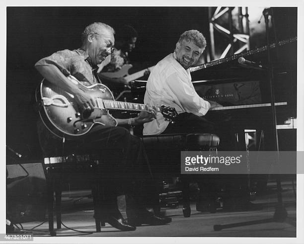 Monty Alexander and Ernest Ranglin on stage at Nice Jazz Festival France 1996
