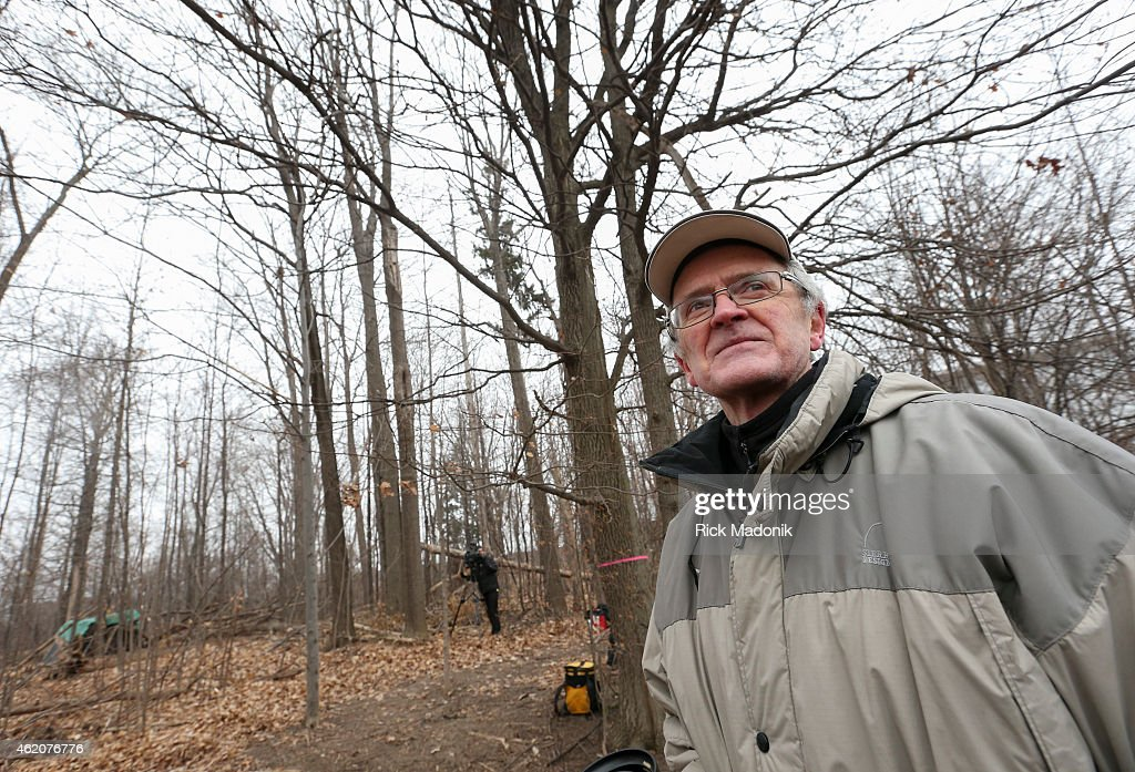 TORONTO JANUARY 24 Monty McDonald Project Team leader and the originator of the idea in front of one of the 9 English Oaks The Vimy Oaks of...