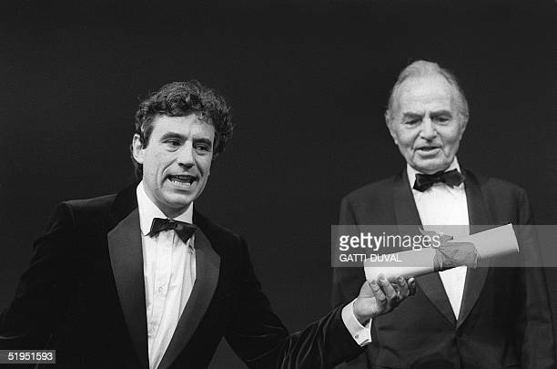 Monty Python's Flying Circus comedy team are awarded the Special Jury Prize for their film 'The Meaning of Life' at the 1983 Cannes Film Festival in...