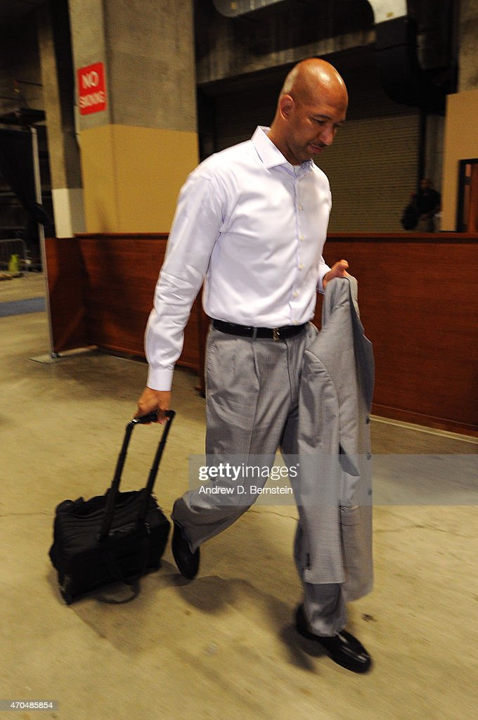 Monty Williams head coach of the New Orleans Pelicans arrives before the game against the Golden State Warriors during Game Two of the Western...