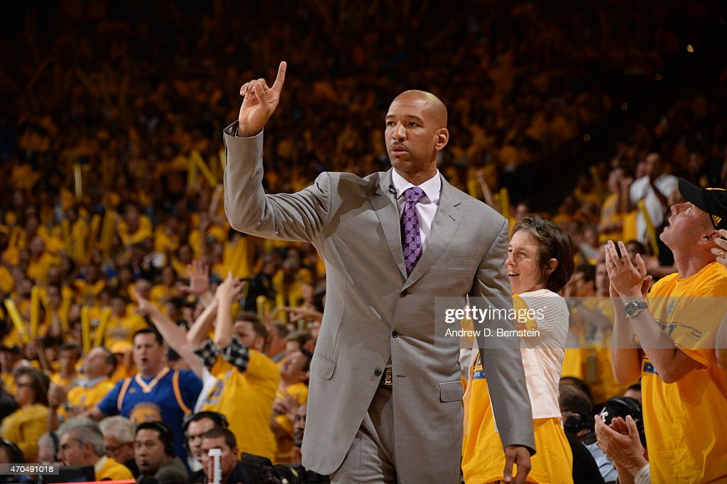 Monty Williams head coach of the New Orleans Pelicans during the game against the Golden State Warriors during Game Two of the Western Conference...