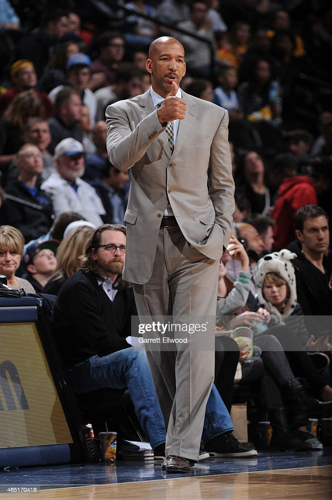 Monty Williams of the New Orleans Pelicans during the game against the Denver Nuggets on March 1 2015 at the Pepsi Center in Denver Colorado NOTE TO...