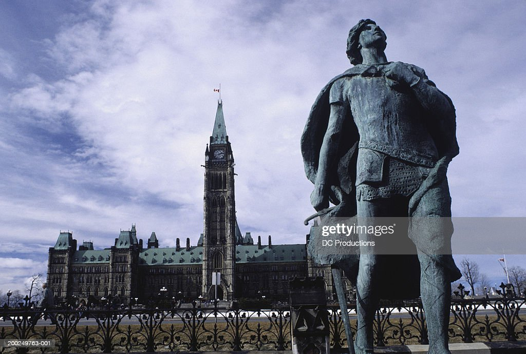 Monument and Parliament in Ottawa, Canada : Stock Photo