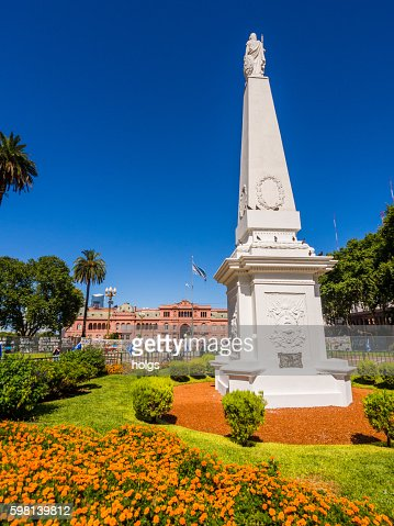 Monument in La Casa Rosada in Buenos Aires