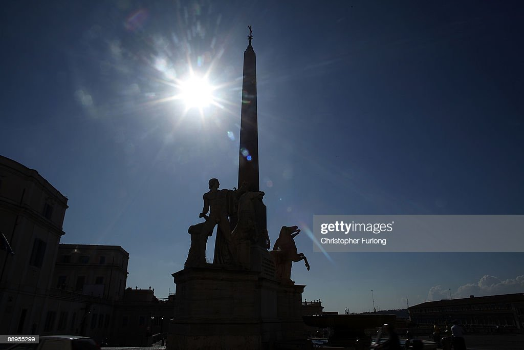 A monument is silouhetted at Palazzo Del Quirinale on July 9, 2009 in Rome, Italy. With nearly 3000 years of history Rome continues to live up to its motto of The Eternal City being one of the founding cities of Western Civilisation.