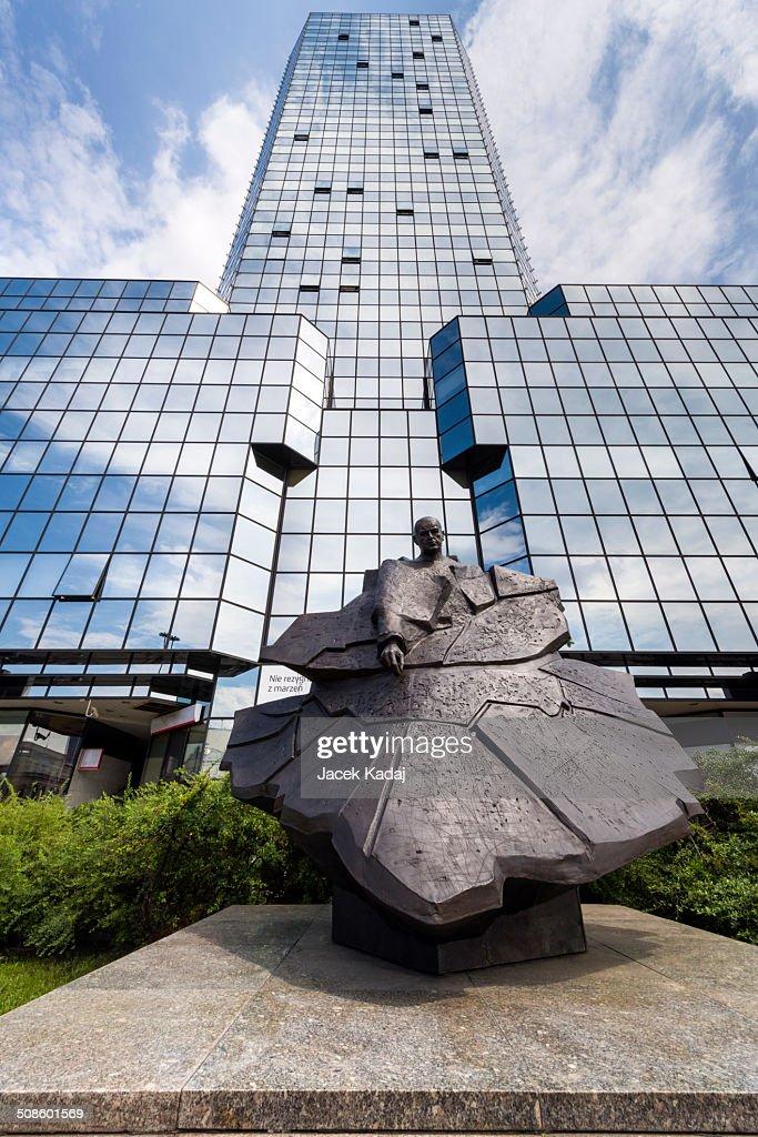 Monument of Stefan Starzynski a Mayor of Warsaw in : Stock Photo