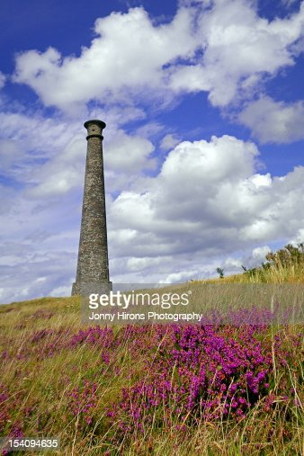 Monument on Pen Dinas hill, Aberystwyth : Stock Photo