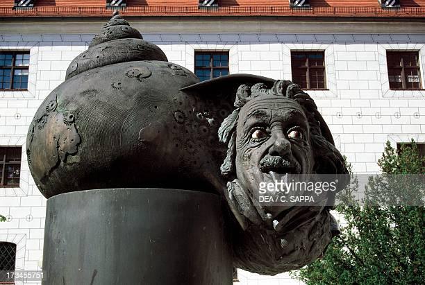 Monument to Albert Einstein Ulm BadenWurttemberg Germany