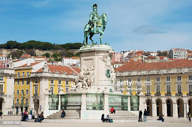 Monument to Dom Jose 1 in Praca do Comercio.