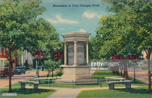 Monument to Four Georgia Poets 1943 Monument to Four Georgia Poets James Ryder Randall Sidney Clopton Lanier The Rev Abram Joseph Ryan and Paul...