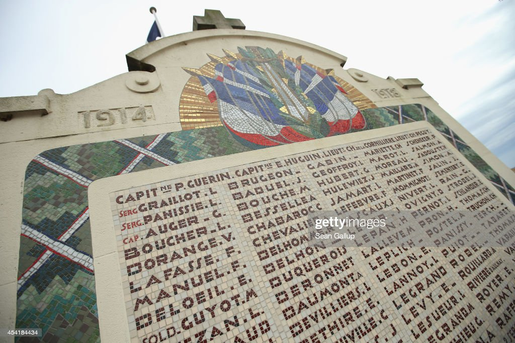 A monument to French soldiers killed in the early stages of the First Battle of the Marne stands near the battlefield on August 25, 2014 near Villeroy, France. At the beginning of September, 1914, German armies had nearly reached Paris when British and French armies, after weeks of retreat, counterattacked and stemmed the German advance in the First Battle of the Marne, pushing the Germans north to what would soon become the stalemate trench war that defined the Western Front for the next four years.