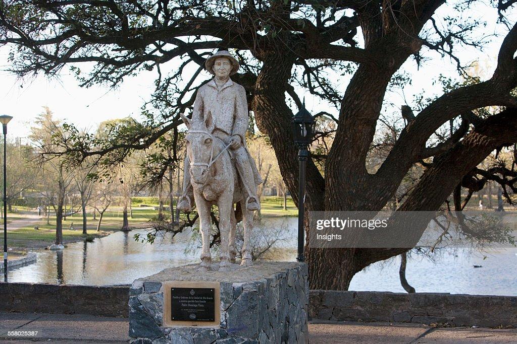 Monument to gauchopriest Domingo Vera Alta Gracia Provincia de Cordoba Argentina