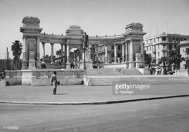 A monument to Khedive Ismail erected by the Italian community in Alexandria Egypt 1944 It is now a monument to the Unknown Soldier
