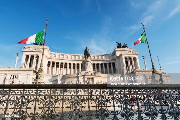 Monument to King Victor Emmanuel II in Rome's Piazza Venezia, Lazio, Italy, Europe.