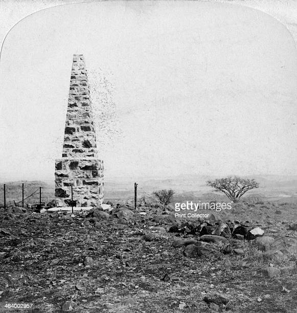 Monument to the 27th Inniskillings Hart's Hill near Colenso Natal South Africa Boer War 1901 On 23 February 1900 during the Battle of the Tugela...