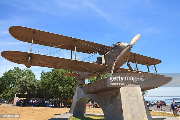 Monument to the first Portuguese transatlantic flight in 1922 by Gago Coutinho, Belem District, Lisbon, Portugal