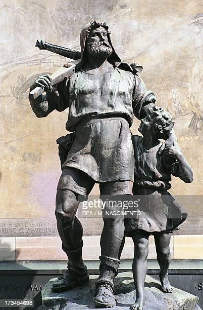 Monument to William Tell Altdorf Uri Switzerland