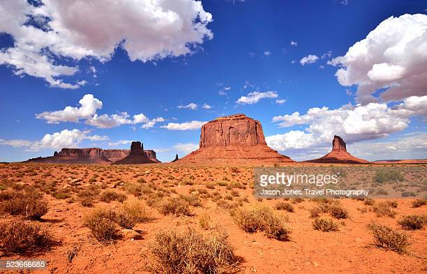 Monument valley and desert