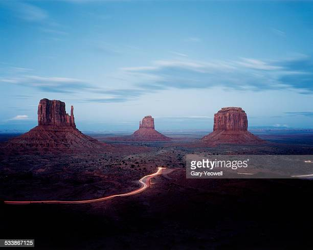 Monument Valley Buttes at dusk