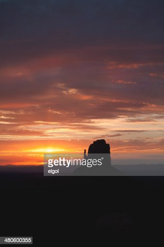 Monument Valley : East Mitten : Stock Photo