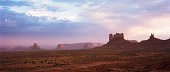 Monument Valley in dust storm