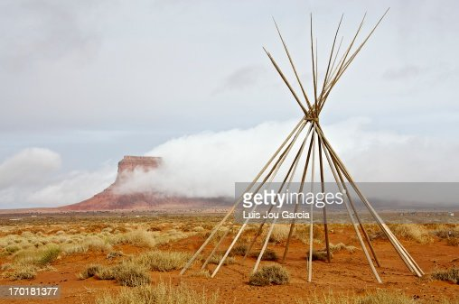 Valley With Snow And Indian Tipi Tent Stock Photo  Getty Images