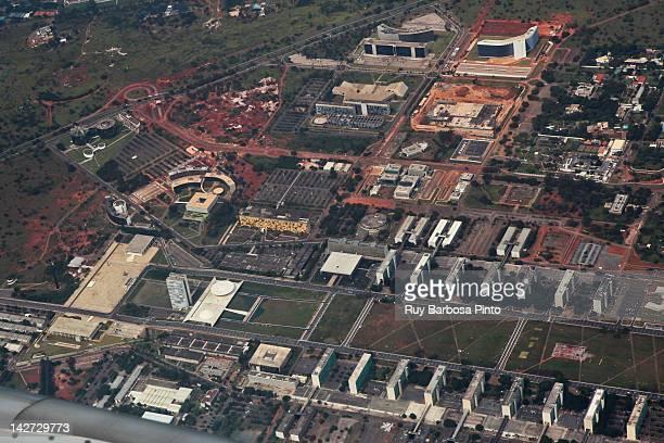 Monumental Axis aerial view