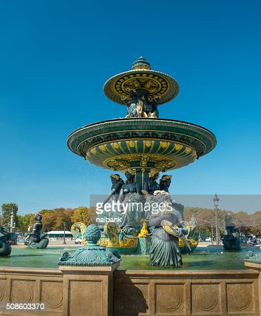 A monumental fountain at La Concorde : Foto de stock
