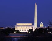 Monuments and Capitol at Twilight