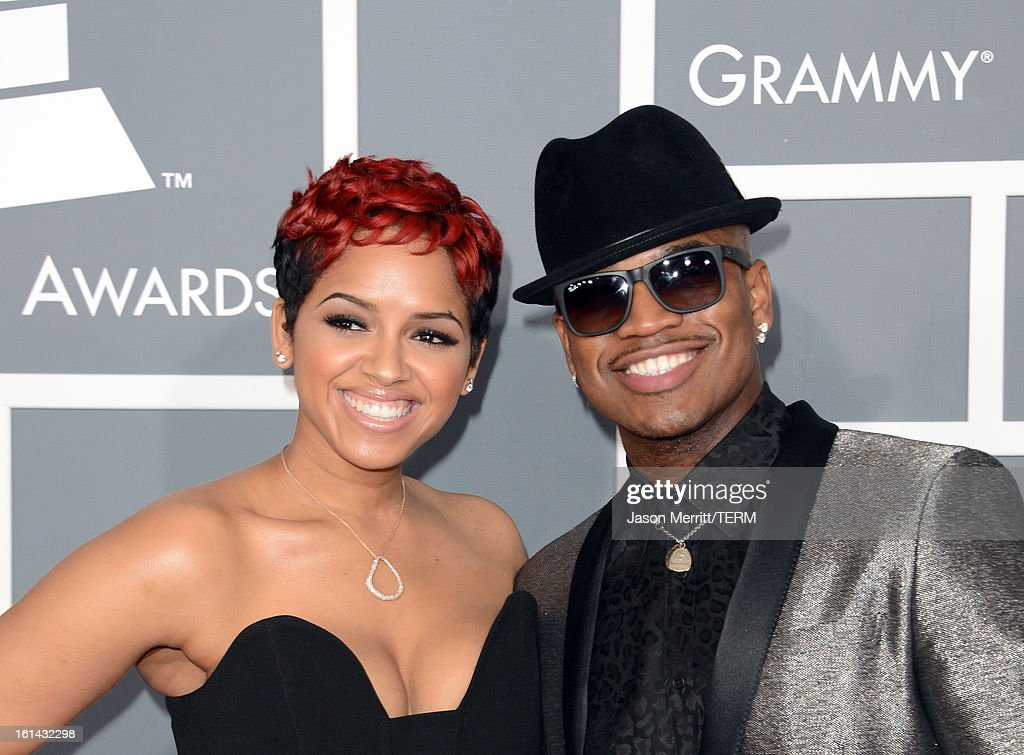 Monyetta Shaw and recording artist Ne-Yo arrive at the 55th Annual GRAMMY Awards at Staples Center on February 10, 2013 in Los Angeles, California.