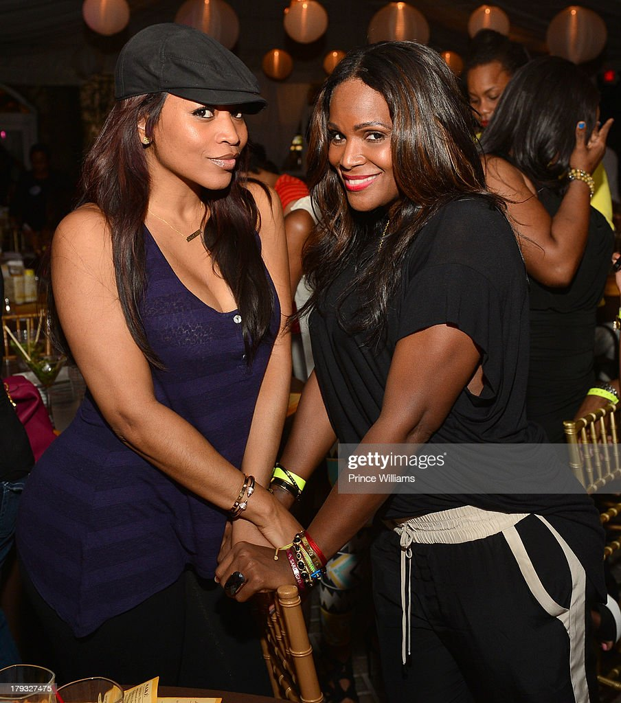 Monyetta Shaw and <a gi-track='captionPersonalityLinkClicked' href=/galleries/search?phrase=Tameka+Foster&family=editorial&specificpeople=4117530 ng-click='$event.stopPropagation()'>Tameka Foster</a> attend Platinum Edition Of ATL Live on the Park at Park Tavern on August 26, 2013 in Atlanta, Georgia.