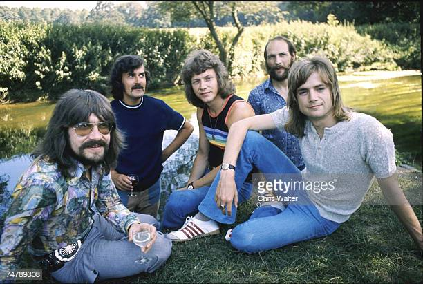 Moody Blues 1971 Graeme Edge Ray Thomas John Lodge Mike Pinder and Justin Hayward in London United Kingdom
