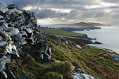 Moody Irish landscape on Dingle Peninsula.