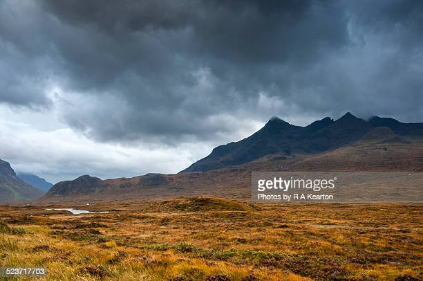 Moody landscape on Isle of Skye