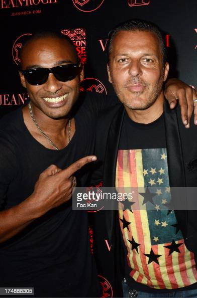 Moody Mike and Jean Roch Pedri attend the VIP Room Party In Saint Tropez on July 28 2013 in Saint Tropez France