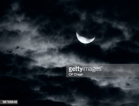 Moody Moon and Clouds