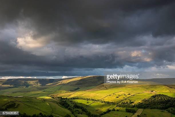 Moody sky over Kinder Scout, Derbyshire