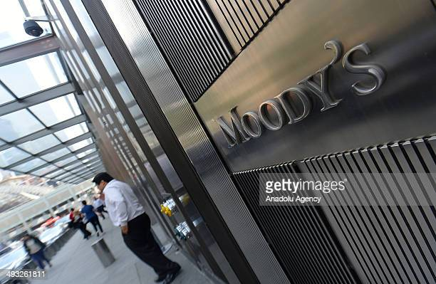 Moody's leading international credit rating institution is seen on the photo in New York United States on 21 May 2014 Leading financial institutions...